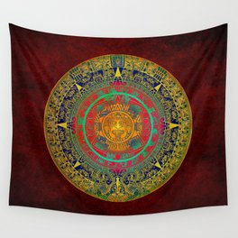 Aztec Sun God Wall Tapestry