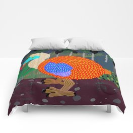Dodo Bird in the Woods Comforters