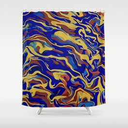 Abstract Alma Llanera Shower Curtain