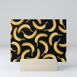 Bananas Pattern - black Mini Art Print
