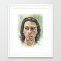 christian schloe Framed Art Prints featuring Christian Bale by Hector Trunnec