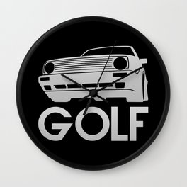 Volkswagen Golf - silver - Wall Clock