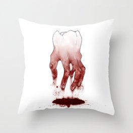 Tooth Fingers Throw Pillow