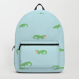 see you later, alligator. Backpack