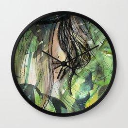Girl in jungle Wall Clock