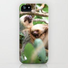 Yawning Baby Sloth - Cahuita Costa Rica iPhone Case