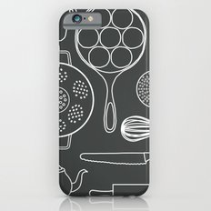 kitchen tools (white on black) Slim Case iPhone 6s