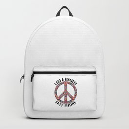 Peaceful Easy Feeling | Hippie Peace Love Gifts Backpack
