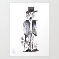 chaplin Art Prints featuring CHAPLIN by Halley's Coma