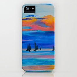 I'd Rather Be Sailing by Teresa Thompson iPhone Case