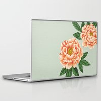peonies Laptop & iPad Skins featuring Peonies by A.Vogler