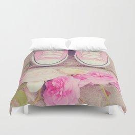 English Roses And Pink Chucks Duvet Cover