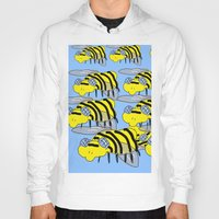 bees Hoodies featuring Bees by David Abse