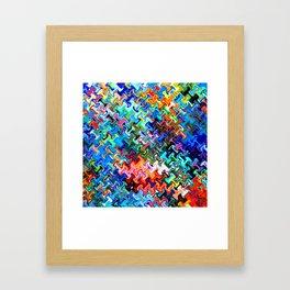 pattern sunnyday  Framed Art Print