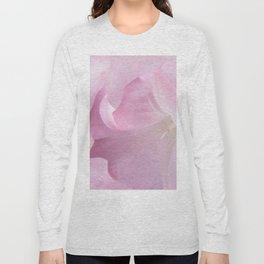 Pink Moonflower Long Sleeve T-shirt