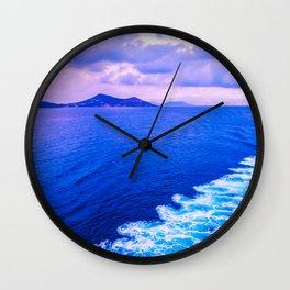 Aegean sea Wall Clock