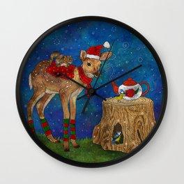 Christmas Tea Party Wall Clock