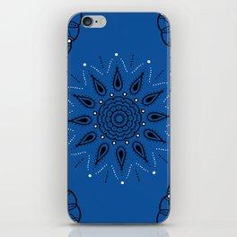 Central Mandala Blue Lapis iPhone Skin