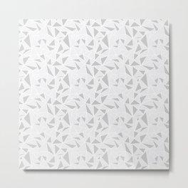 Triangle Pattern Grey Metal Print