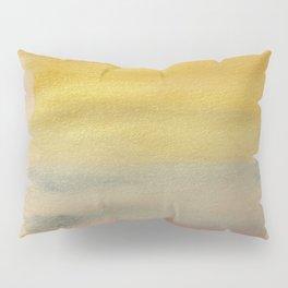 Metallic Rainbow Watercolor Pillow Sham