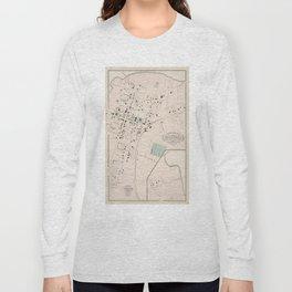 Vintage Map of Culpeper Virginia (1878) Long Sleeve T-shirt