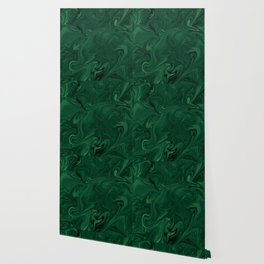 Modern Cotemporary Emerald Green Abstract Wallpaper