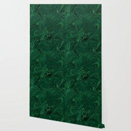 Modern Cotemporary Emerald Green Abstract Wallpaper