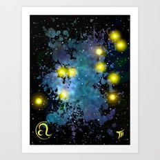 The Zodiac Sign -- Leo Art Print