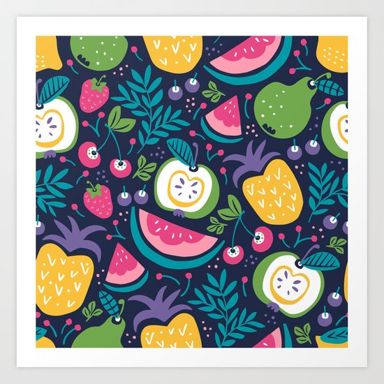 Hello Fruity Art Print