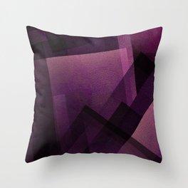 Modular Magenta - Digital Geometric Texture Throw Pillow