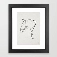 One line Horse 1403 Framed Art Print