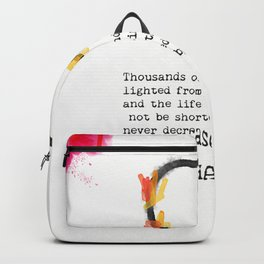 Buddha wisdom words Backpack