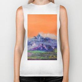 Mountains landscape. Diptych Biker Tank