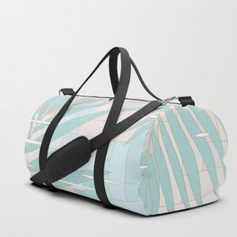 Summer Mood with Chevron and Palms Duffle Bag