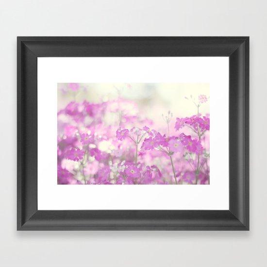 Feeling pink Framed Art Print