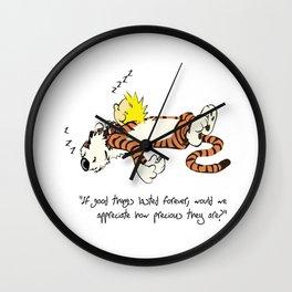 Calvin And Hobbes Sleep Wall Clock