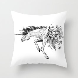 Exploding Unicorn Throw Pillow