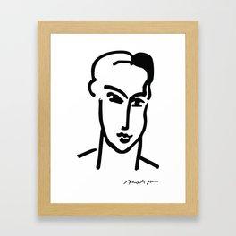 "Henri Matisse: ""Grande Tete de Katia"" Poster Galerie Maeght Paris 1964, Henri Matisse-Katia-1964 Pos Framed Art Print"