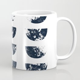 Josie Navy Blue Half Moon Abstract Coffee Mug