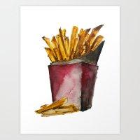 fries Art Prints featuring Fries by Britta Loucas