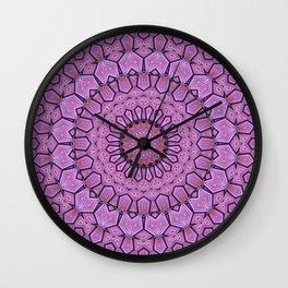 Pink Pattern Mandala Wall Clock