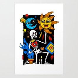 LUCK DEATH Art Print