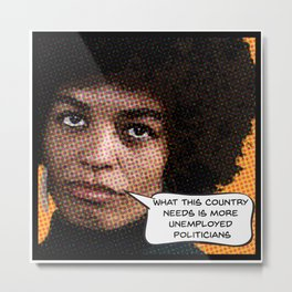 Angela Davis: What This Country Needs Metal Print