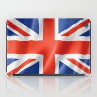 british flag iPad Cases featuring UK / British waving flag by GoodGoods
