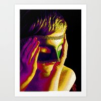 anonymous Art Prints featuring Anonymous  by Dream Realm Photography and Art