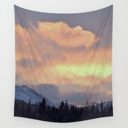 Serenity Rose Mt Sunrise Wall Tapestry