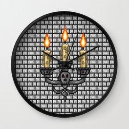 Castle Candelabras Wall Clock