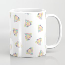 Colorful Diamonds Pattern - gemstones pattern Coffee Mug