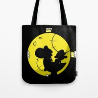 mario kart Tote Bags featuring Yoshi and Baby Mario ( super mario bros ) by TxzDesign