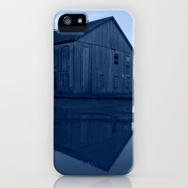 Warehouse Reflection in Blue iPhone Case
